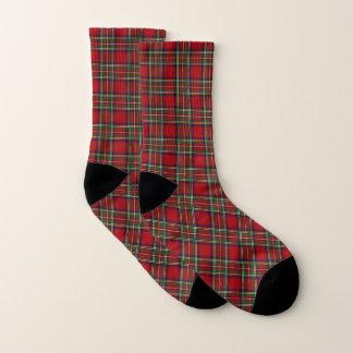 Red Plaid Design Socks 1