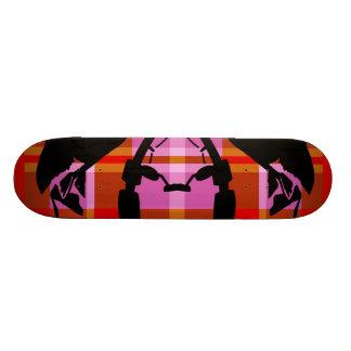 Red Plaid Fisher Skateboard Decks