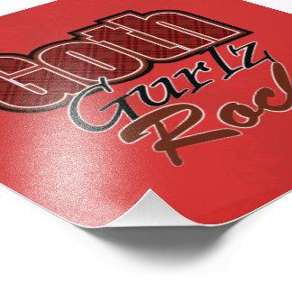Red Plaid Goth Gurlz Rock Saying Photo