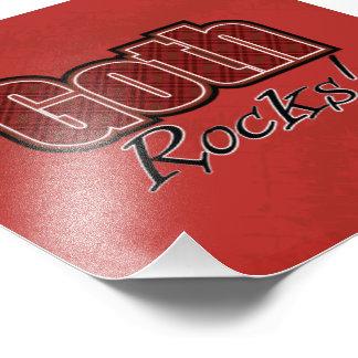 Red Plaid Goth Rocks Saying Photo