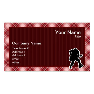 Red Plaid Guitarist Business Card