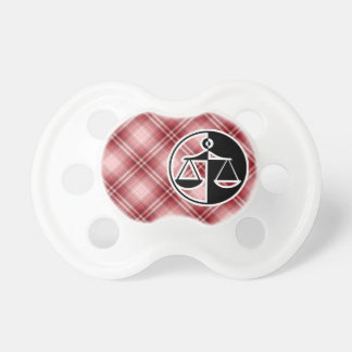 Red Plaid Justice Scales Dummy