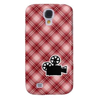 Red Plaid Movie Camera HTC Vivid / Raider 4G Cover