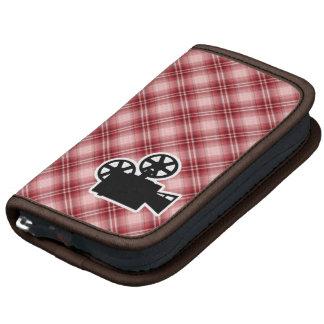Red Plaid Movie Camera Folio Planners