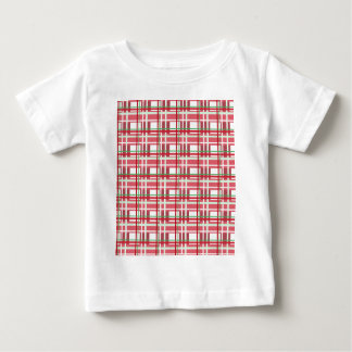 Red plaid pattern baby T-Shirt