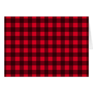 Red plaid pattern card