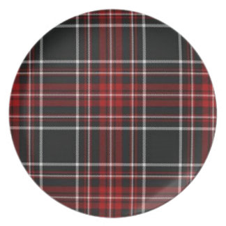 Red Plaid Plate