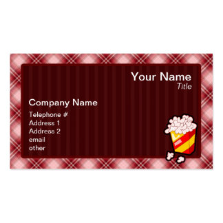 Red Plaid Popcorn Pack Of Standard Business Cards
