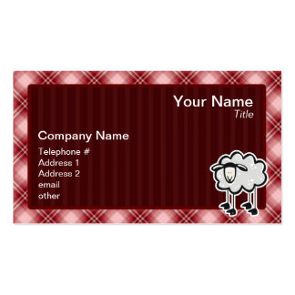 Red Plaid Sheep Pack Of Standard Business Cards