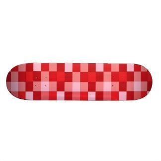 red plaid skateboard