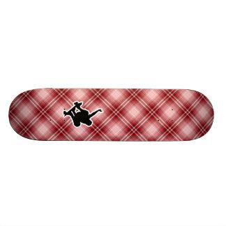 Red Plaid Skateboarding Skate Decks