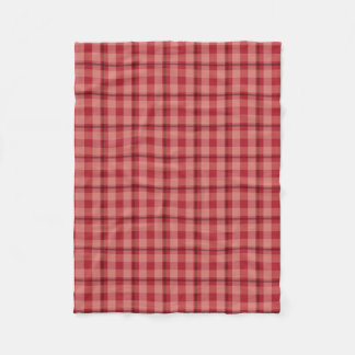 Red Plaid Small Blanket