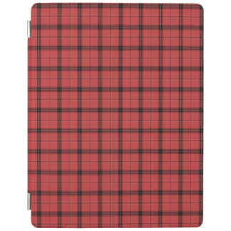 Red Plaid Tartan Christmas Holiday Pattern iPad Cover