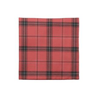 Red Plaid Tartan Christmas Holiday Pattern Napkin