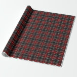 Red Plaid / Tartan Wrapping Paper (Customisable)