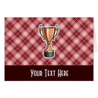 Red Plaid Trophy Greeting Card