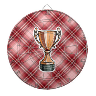 Red Plaid Trophy Dartboards