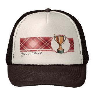 Red Plaid Trophy Hat