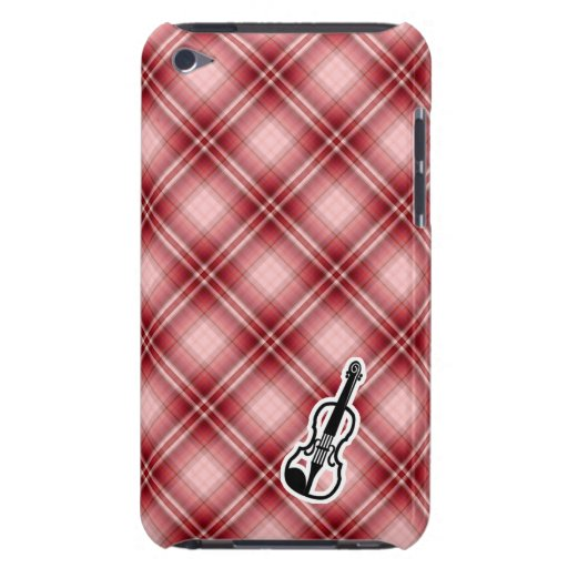 Red Plaid Violin Barely There iPod Case