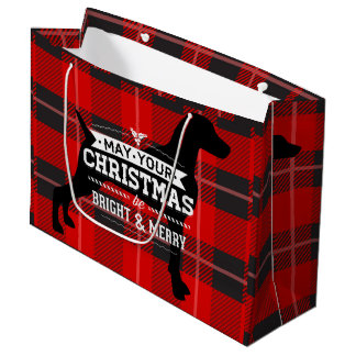RED PLAID WEIM GIFT BAG