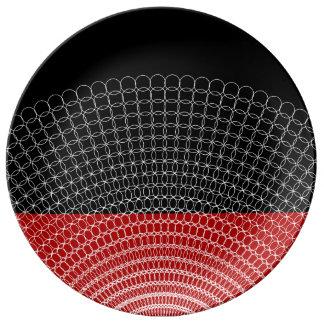 Red Planet Geometric Pattern Plate