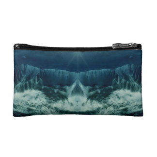 Red Planet in Blue Makeup Bags