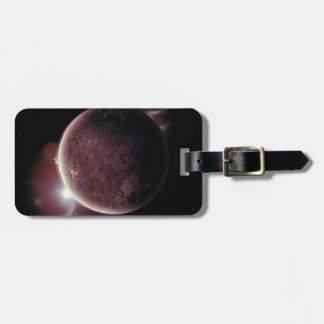 red planet in the universe with aura and stars luggage tag