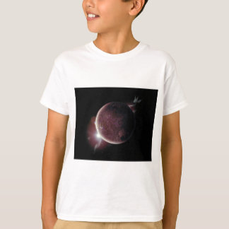 red planet in the universe with aura and stars T-Shirt