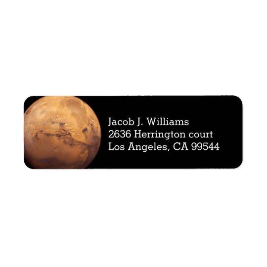Red Planet Mars Return Address Label