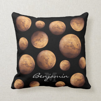 Red Planet Mars Throw Pillow