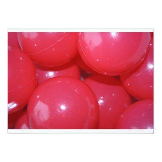 Red Plastic Balls Invitations