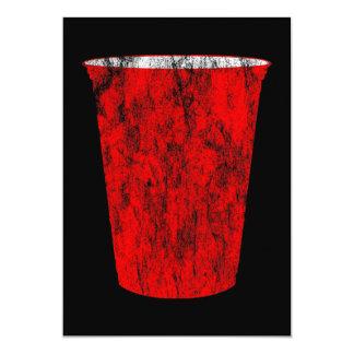 red plastic cup 13 cm x 18 cm invitation card