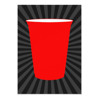 red plastic cup card