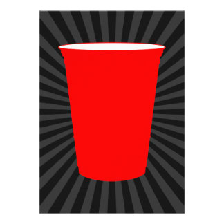 red plastic cup announcement