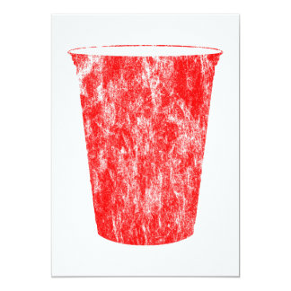 "red plastic cup 5"" x 7"" invitation card"
