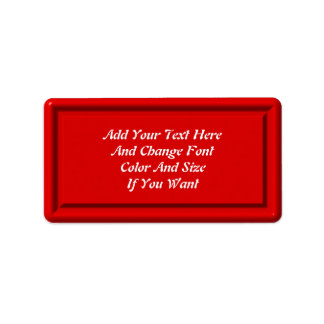 Red Plastic Label Template Address Label