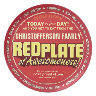 Red Plate of Awesomeness for families