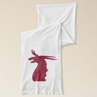 Red Plated Dragon Head Design Scarf