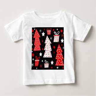 Red playful Xmas Baby T-Shirt