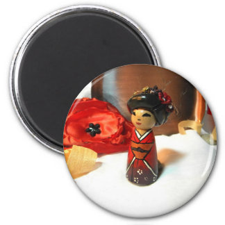 Red Plum Kokeshi Magnet
