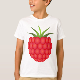 Red Plump Raspberry With Leaves T-Shirt