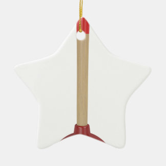 Red plunger ceramic ornament