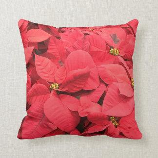 Red  Poinsettia Cushion