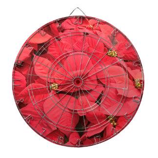 Red  Poinsettia Dartboard