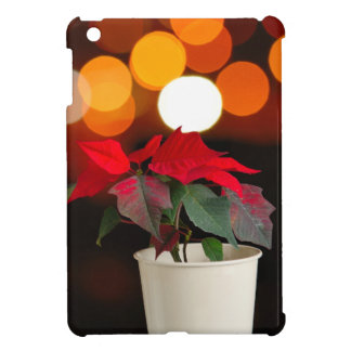 Red Poinsettia flower Case For The iPad Mini