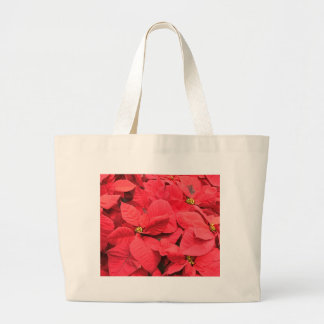 Red  Poinsettia Large Tote Bag