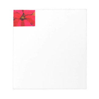 Red Poinsettia Notepad