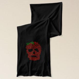 Red Poinsettia Skull Scarf