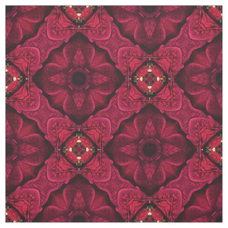 Red Poinsettias Abstract 9 Fabric