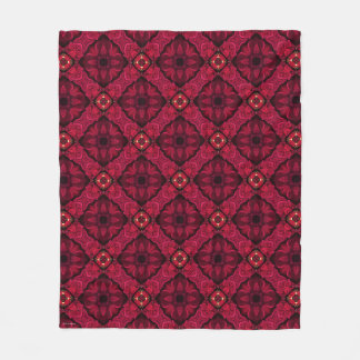 Red Poinsettias Abstract 9 Fleece Blanket